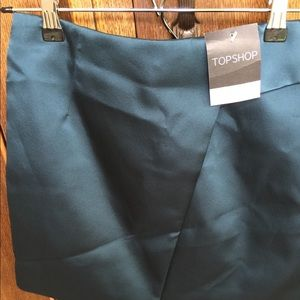 Topshop emerald green skirt